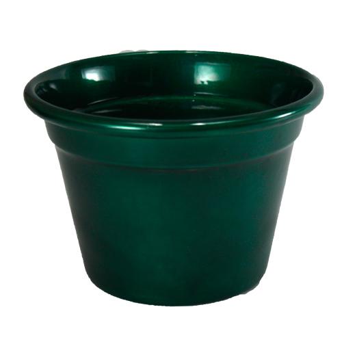 Cachepô  de Alumínio Verde Metálico<BR> Selecione o tamanho: