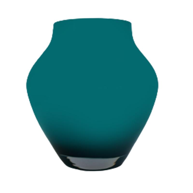 Vaso de vidro anfôra Baltic green (turquesa) - Importado da Polônia - SELECIONE O TAMANHO: