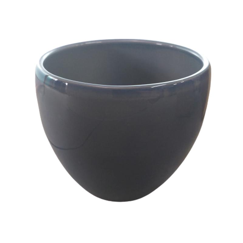 Cachepô de cerâmica azul