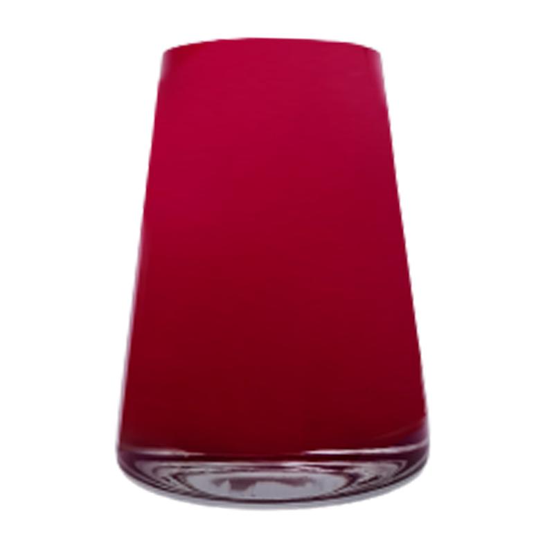 Vaso de vidro cone Ruby (vermelho) - Importado da Polônia - SELECIONE O TAMANHO: