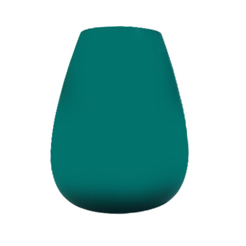 Vaso de vidro gota Baltic green (turquesa) - Importado da Polônia - SELECIONE O TAMANHO: