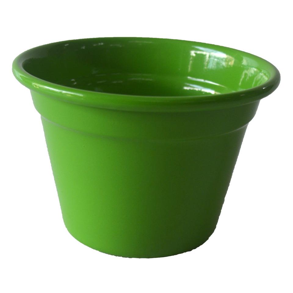 Cachepô de Alumínio Verde Limão <BR> Selecione o tamanho: