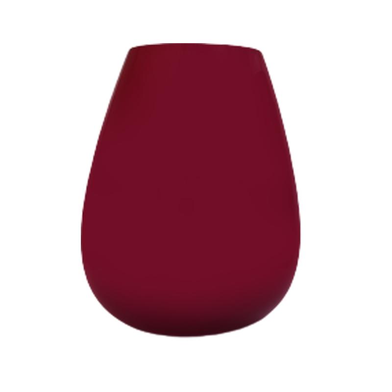 Vaso de vidro gota Ruby (vermelho) - Importado da Polônia - SELECIONE O TAMANHO: