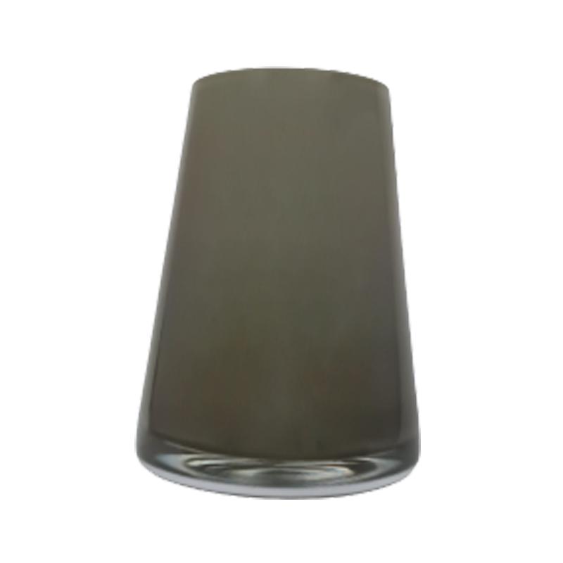 Vaso de vidro cone grey (cinza) - Importado da Polônia - SELECIONE O TAMANHO: