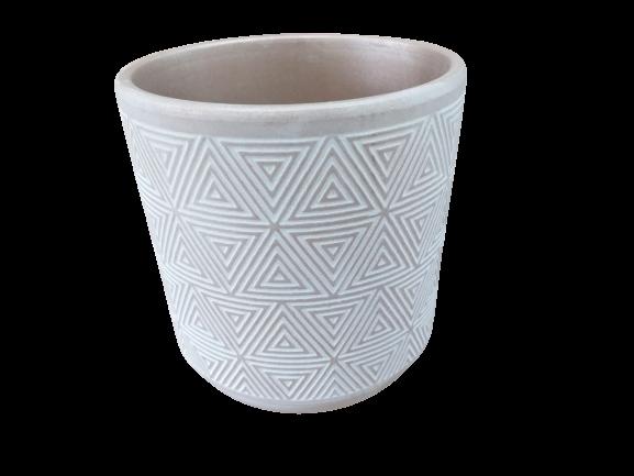 Cachepô de cerâmica étnico cobre