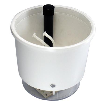 Vaso Autoirrigável Branco <br> Ø 16cm x 14cm