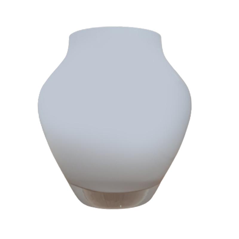 Vaso de vidro anfôra Opal (branco) - Importado da Polônia - SELECIONE O TAMANHO: