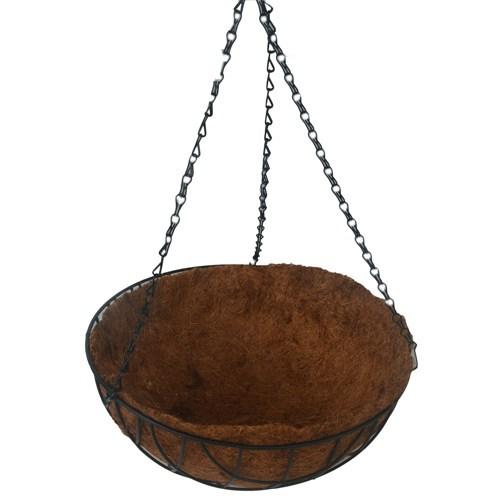 Vaso de  Fibra de Coco com Suporte Metálico. A partir de: