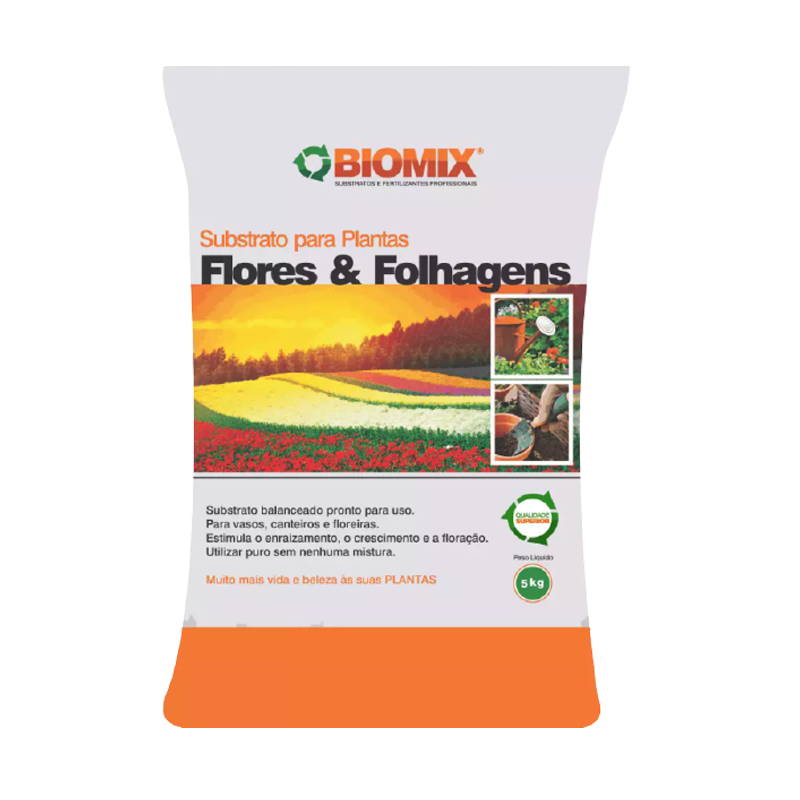 Substrato Flores e Folhagens Biomix 5 Kg