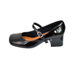 Sapato Retro em Verniz Preto