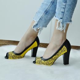 Peep Toe Amarelo (SEM TROCA)