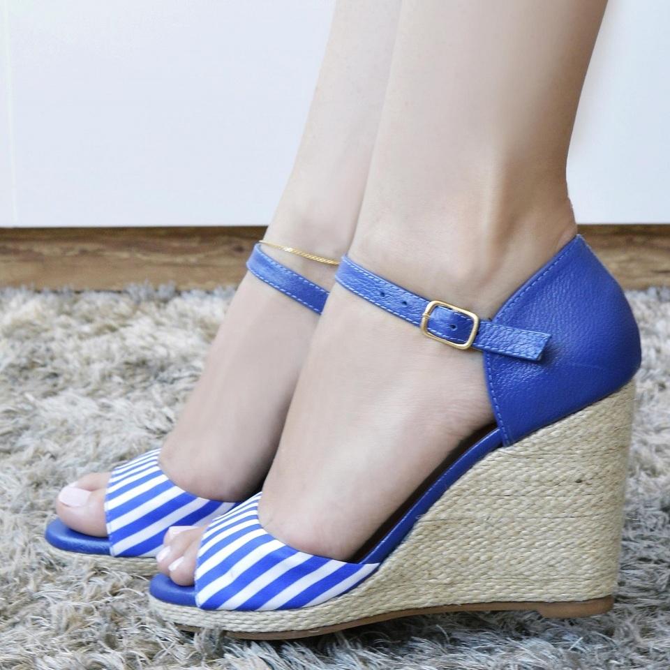 Espadrilhe Azul e Branco