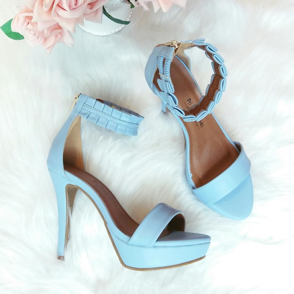 Sandália Meia Pata Azul Claro