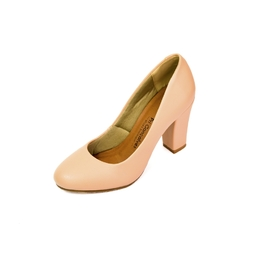 Sapato Bico Redondo Nude