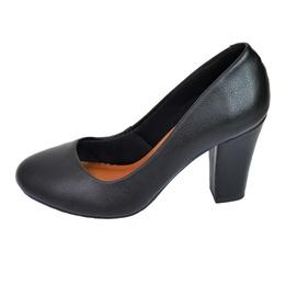Sapato Bico Redondo Preto