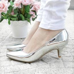 Scarpin Baixo Metalizado Prata