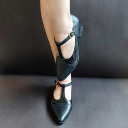 Sapato Pri Gonçalves Couro Bico Fino Preto