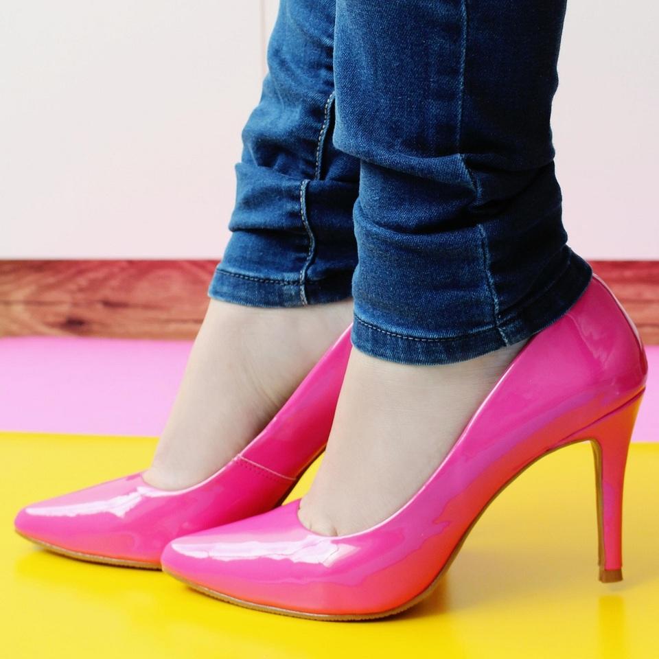 Scarpin Alto Verniz Pink