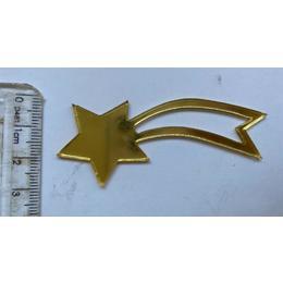 Aplique Estrela Guia - Pct 3 unidades DOURADA