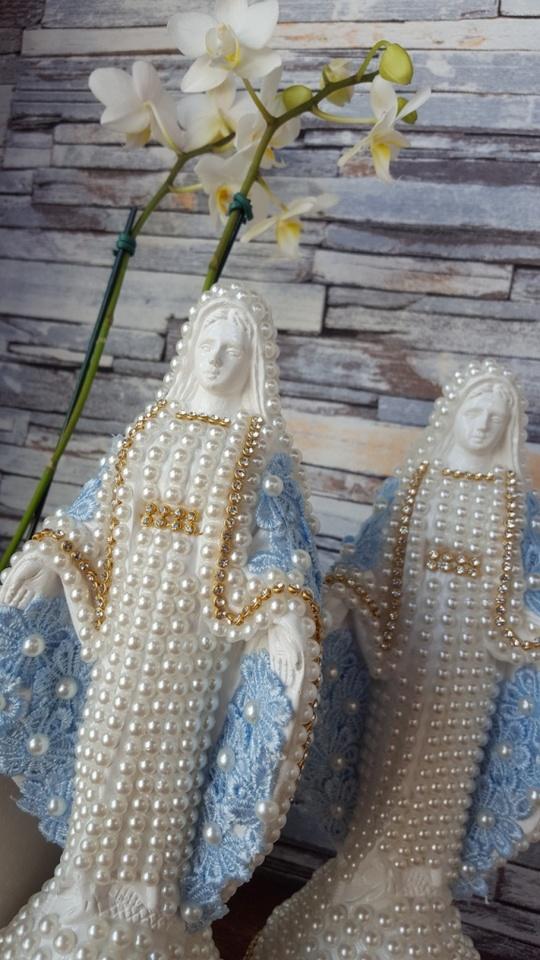 Nossa Senhora das Graças com manto azul 30 e 20cm