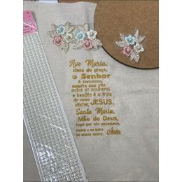 Kit Mandala com Bordado Ave Maria