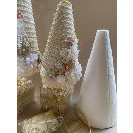 Kit Arvore Natal com Vaso perolas- Kit faça você mesmo