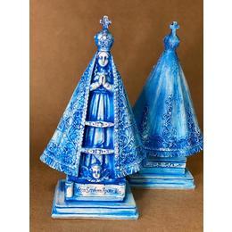 Nossa Senhora Barroca Azul 21cm