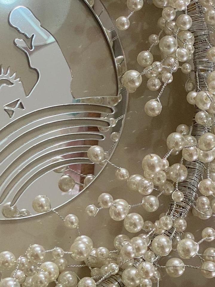 Kit Guirlanda Perolas Luxo - Faça você mesmo prata