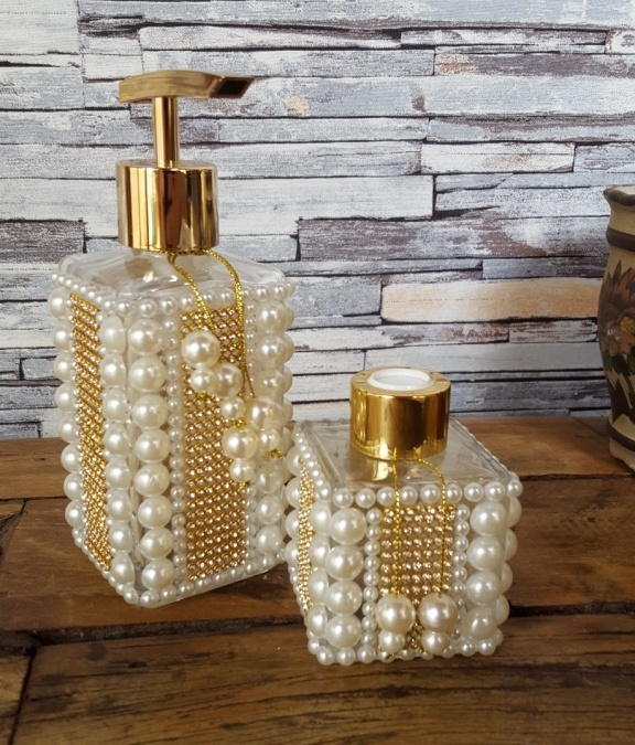Vidro decorado Luxo para Aromatizador ou Sabonete Liquido