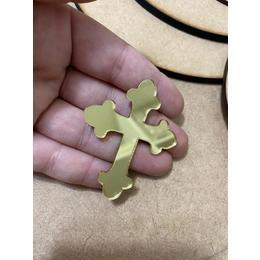 Aplique cruz espelhado - Pcte com 5 unidades