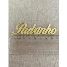 Aplique acrílico Padrinho  - Pct 3 unidades