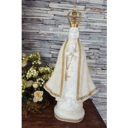 Nossa Senhora Aparecida 40cm Coroa Metal Perolas
