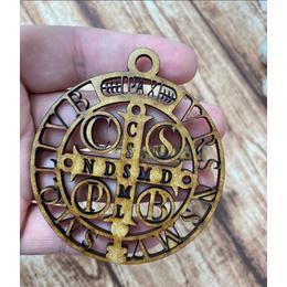 Aplique MDF- Medalha SBento com gancho- pcte 3 unidades