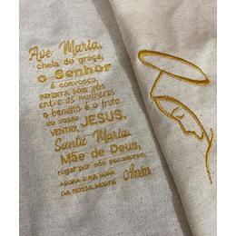 Bordado Ave Maria e esboço