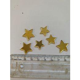 Aplique estrelas - Pcte 15 unidades dourada