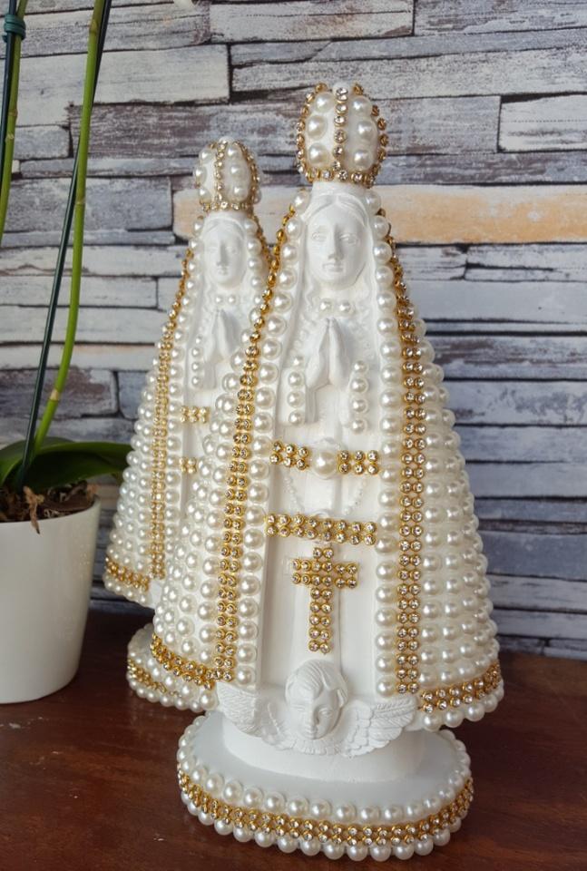 Nossa Senhora Aparecida 20cm Perolas