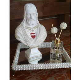 Bandeja com Sagrado Coração de Jesus Busto