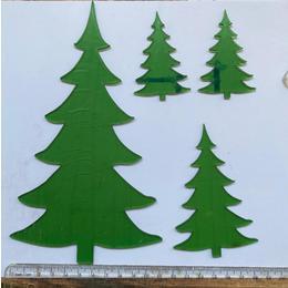 Aplique Arvore Natal Verde transparente