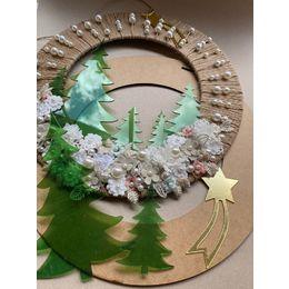 Kit Guirlanda rústica Arvore Natal - Faça você mesmo