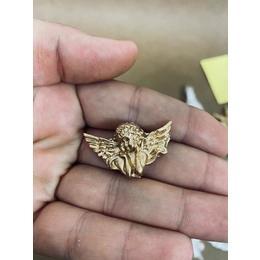 Anjo aplique P Dourado