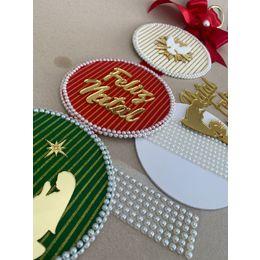 Kit Pendulo Natal listrado - Faça você mesma