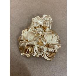 Sagrada Família Aplique Dourado