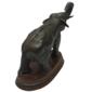 Escultura Representando ELEFANTE Fabricada em Liga de Bronze, Base de Relógio Francês, Início do Século XX