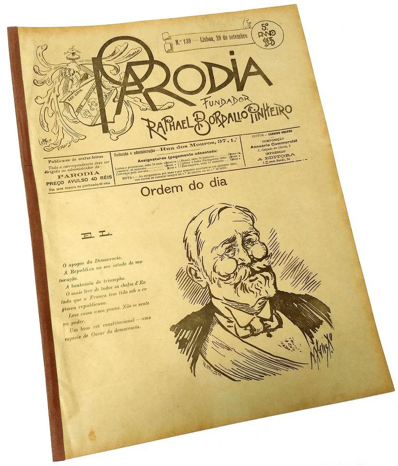 b0ab598caeff3 Jornal A PARÓDIA n.º 139 Lisboa 29 de Setembro de 1905 ...