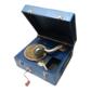 Gramophone Portátil UNBRANDED Sem Gravações, Meados do Século XX