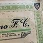 Título de Sócio-Proprietário PETROPOLITANO F.C. Petrópolis, 19 de Novembro1969