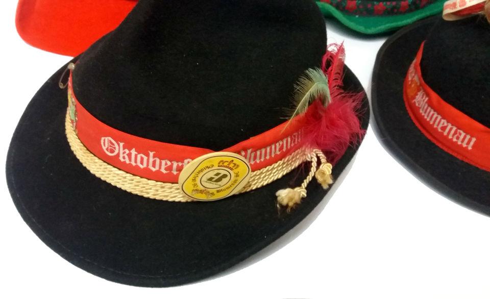 9ec64f1bdd780 Lote com Quatro Chapéus TIROLÊS Oktoberfest Lote com Quatro Chapéus TIROLÊS  Oktoberfest