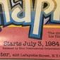 Cartaz ORIGINAL da Retrospectiva de Filmes CHAPLIN Apresentada por JOSEPH PAPP no THE PUBLIC THEATER em Nova York , Julho de 1984