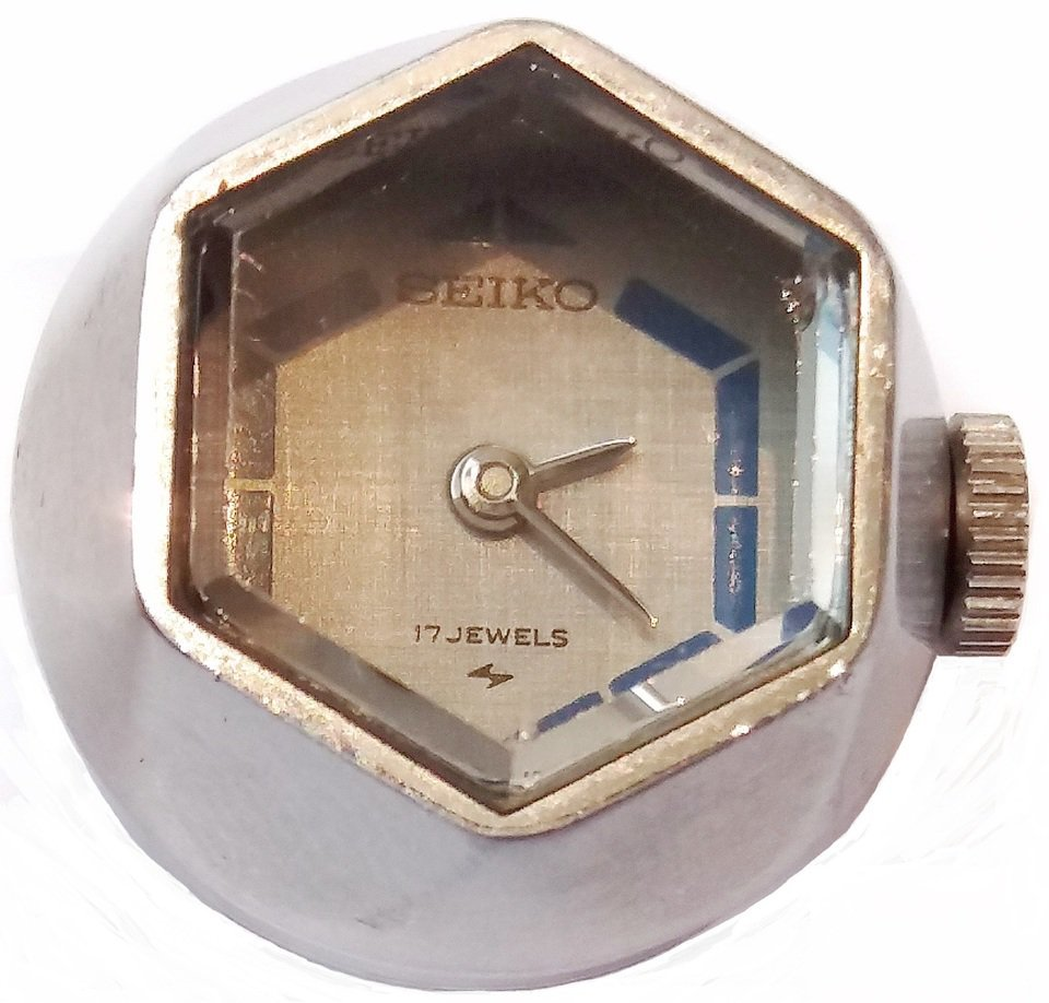 a98fc0d80987f Relógio Anél SEIKO 17 Jewels Japão Anos 1970