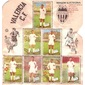 Cartão de Luto pelo Falecimento Jogador Brasileiro WALTER MARCIANO  Enviado ao Jogador JOEL Pelo Clube Valencia, Esposa e Filhos, Valencia, Julho de 1961